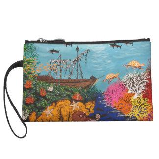 Sunken Treasure Ship Wristlet Wallet