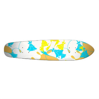 Sunkissed Flowers - White Skateboard Deck
