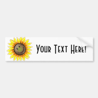 Sunkissed Smiling Sunflower Bumper Sticker