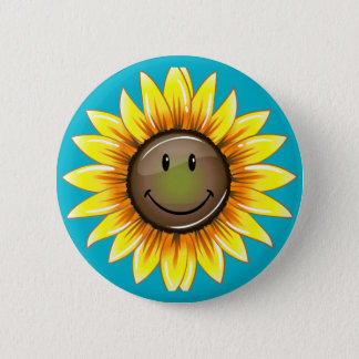 Sunkissed Smiling Sunflower Button