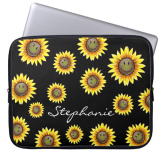 Sunkissed Smiling Sunflower Computer Sleeve