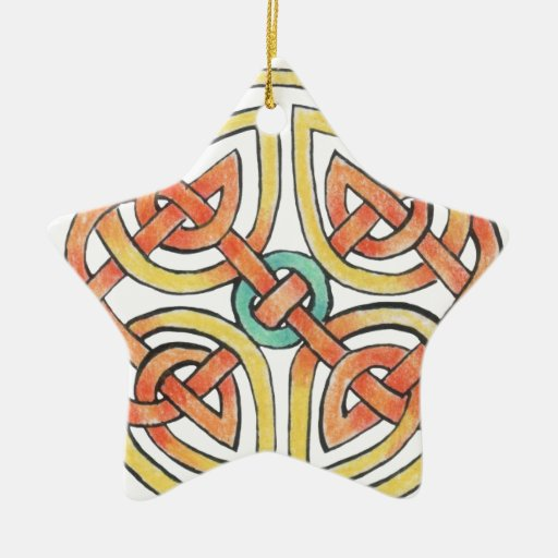 Sunknot Double-Sided Star Ceramic Christmas Ornament