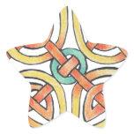 Sunknot Star Sticker
