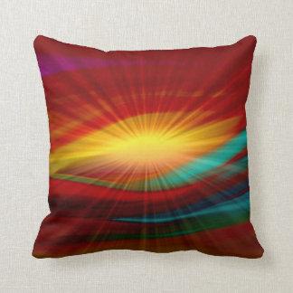Sunlight Abstract Art Pillow