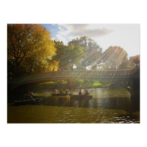 Sunlight and Boats, Bow Bridge, All Sizes Print