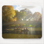 Sunlight and Boats, Bow Bridge, Central Park Mouse Pads