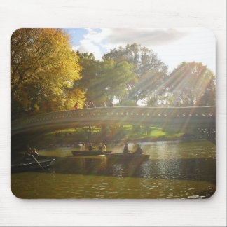 Sunlight and Boats, Bow Bridge, Central Park Mouse Pad