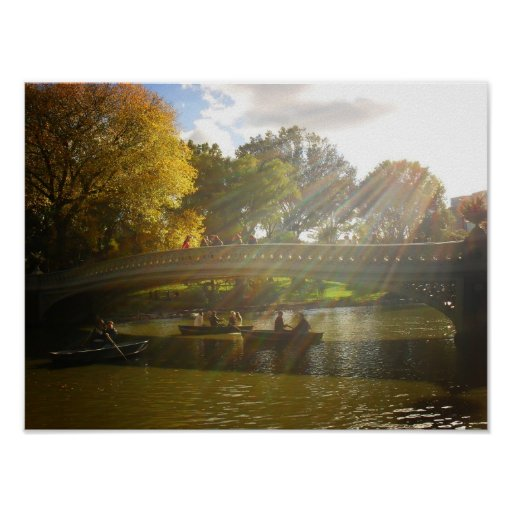 Sunlight and Boats, Bow Bridge, Small Posters