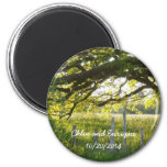 Sunlight And Trees Personalized Wedding Refrigerator Magnet