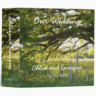 Sunlight And Trees Wedding Photo Binder