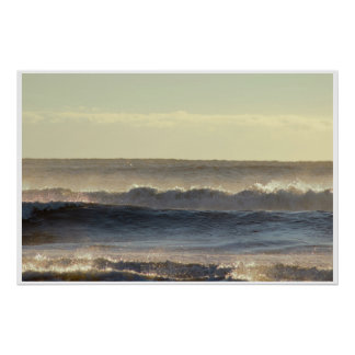Sunlight and Waves Photo Poster
