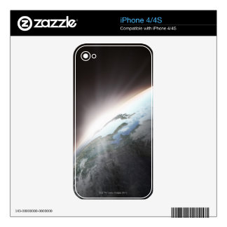 Sunlight Behind Earth 2 iPhone 4S Skins