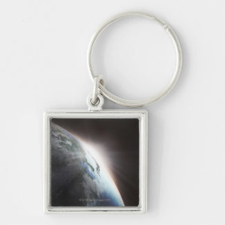 Sunlight Behind Earth 2 Keychain