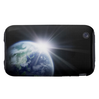 Sunlight Behind Earth 4 Tough iPhone 3 Case