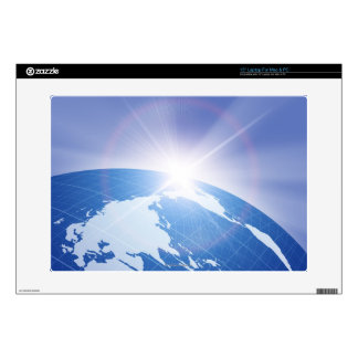 Sunlight Behind Earth Decals For Laptops