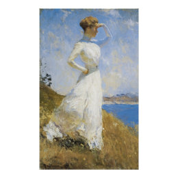 Sunlight, by Frank Weston Benson Poster