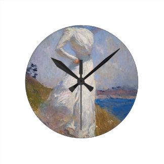 Sunlight by Frank Weston Benson Round Clock