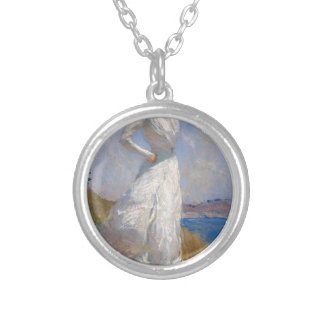 Sunlight by Frank Weston Benson Round Pendant Necklace