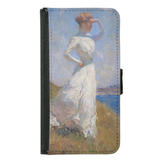 Sunlight by Frank Weston Benson Wallet Phone Case For Samsung Galaxy S5