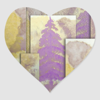 Sunlight Dancing Cut Out Heart Sticker