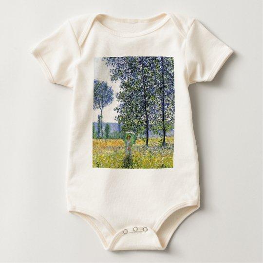 Sunlight Effect under the Poplars  Claude Monet Baby Bodysuit
