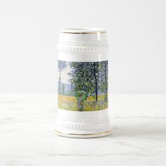 Sunlight Effect under the Poplars  Claude Monet Beer Stein