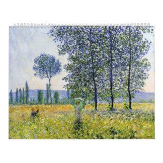 Sunlight Effect under the Poplars  Claude Monet Calendar
