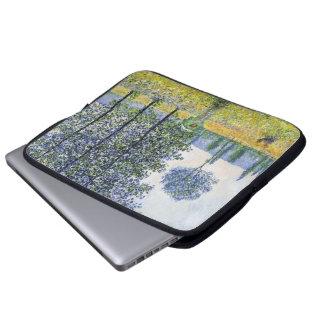 Sunlight Effect under the Poplars  Claude Monet Laptop Sleeve