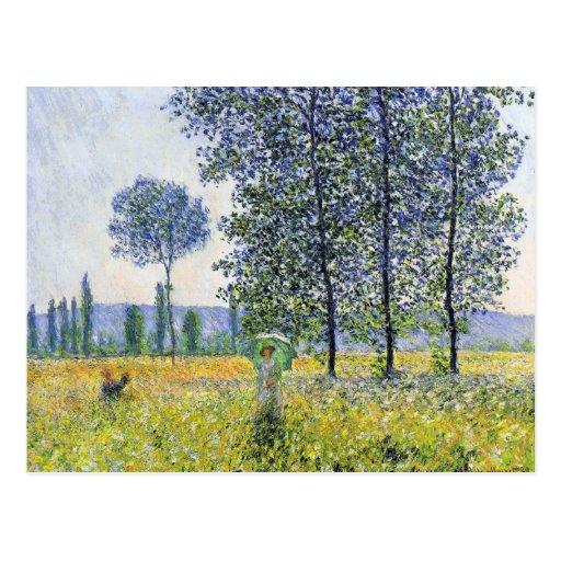 Sunlight Effect under the Poplars  Claude Monet Postcard