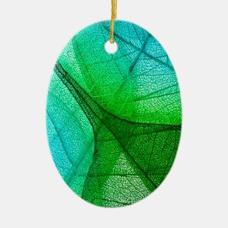 Sunlight Filtering Through Transparent Leaves Ceramic Ornament