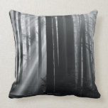 Sunlight in forest throw pillow
