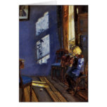 Sunlight in the blue room art by Anna Ancher Cards