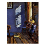 Sunlight in the blue room art by Anna Ancher Post Card