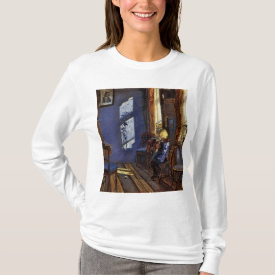 Sunlight in the blue room art by Anna Ancher T-Shirt