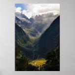 Sunlight Mountain Valley Poster