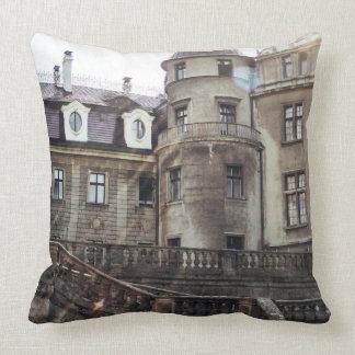 Sunlight On A Medieval Castle Photograph Pillow