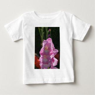 Sunlight on pink gladiolus infant t-shirt