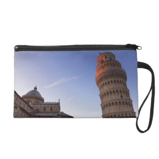Sunlight on the top of the Leaning Tower of Pisa Wristlet Clutch