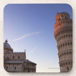 Sunlight on the top of the Leaning Tower of Pisa Drink Coaster