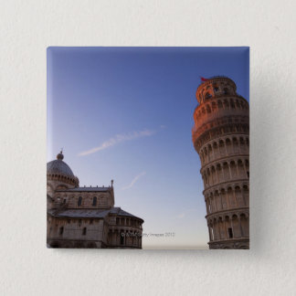 Sunlight on the top of the Leaning Tower of Pisa Pinback Button