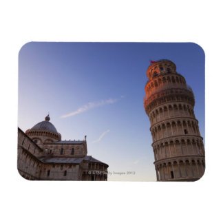 Sunlight on the top of the Leaning Tower of Pisa Rectangular Photo Magnet