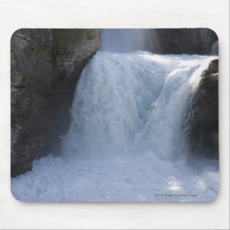Sunlight On Waterfalls On The Side Of A Mountain Mouse Pad