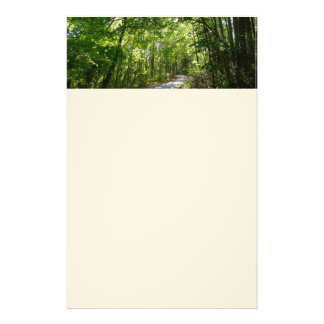 Sunlight on Wooded Path at Centennial Park Stationery