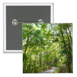 Sunlight on Wooded Path Columbia Maryland Photo 2 Inch Square Button