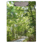 Sunlight on Wooded Path Columbia Maryland Photo Clipboards