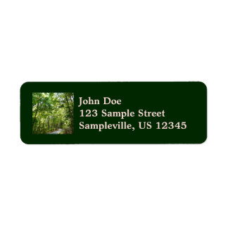 Sunlight on Wooded Path Columbia Maryland Photo Label