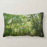 Sunlight on Wooded Path Columbia Maryland Photo Pillow