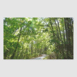Sunlight on Wooded Path Columbia Maryland Photo Rectangular Sticker