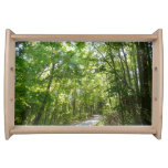 Sunlight on Wooded Path Columbia Maryland Photo Serving Platter