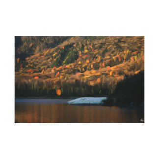 Sunlight on Woodstock Beaver Pond Canvas Print